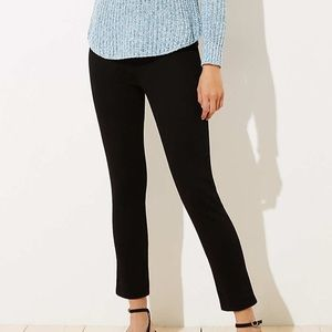 LOFT Pull On Modern Skinny Black Jeans